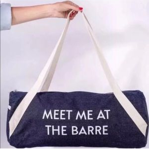 🌸 Private Party Meet Me At The Barre Denim Duffel